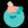 Aquagym lav intensitet ikon