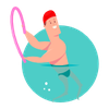 Aquagym middels intensitet ikon