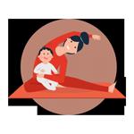 Baby yoga ikon