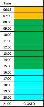 lane schedule diving pool weekdays